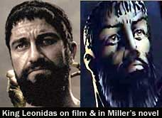 Gerard Butler's Leonidas and Frank Miller 300 version