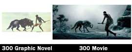 300 scena del lupo - confronto tra romanzo e film