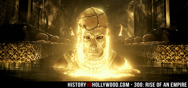 Xerxes Transforms into God King in Movie