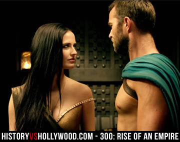 Eva Green and Sullivan Stapleton as Artemisia and Themistocles