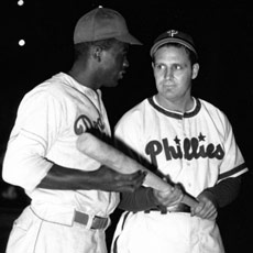 Jackie Robinson and Ben Chapman