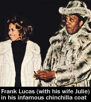 Frank Lucas fur coat and wife