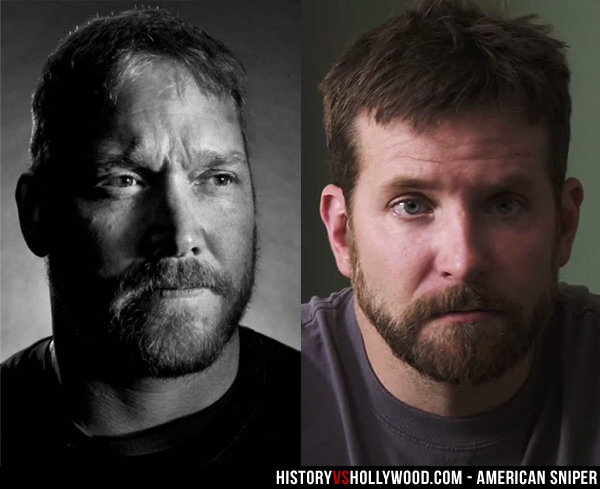 Chris Kyle No Hat and Bradley Cooper No Hat