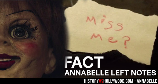 Annabelle Doll Parchment Messages Movie