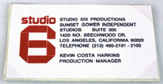 Studio 6 Business Card