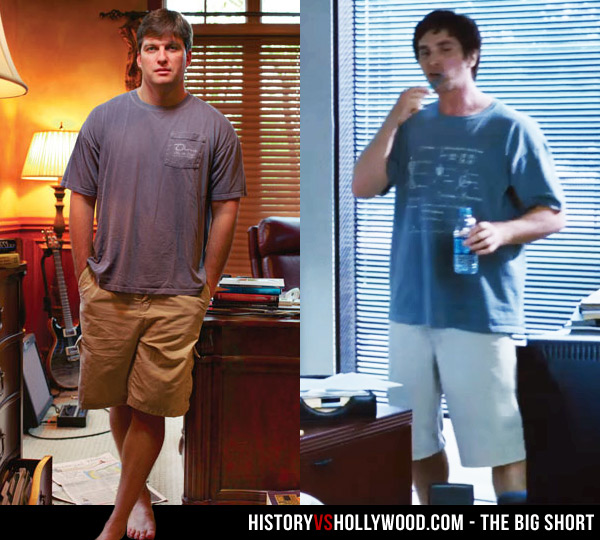 Michael Burry and Christian Bale