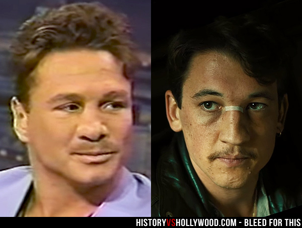 Vinny Pazienza and Miles Teller