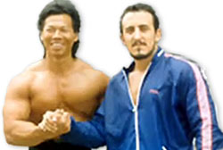 Kumite fighter Paulo Tocha and actor Bolo Yeung