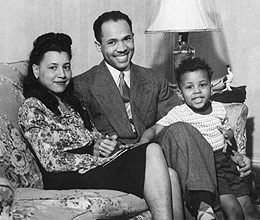 Eugene and Helene Allen with their son, Charles, in 1948