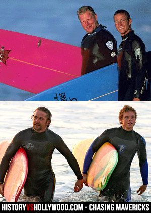 Top: Jay Moriarity and Frosty, Bottom: Gerard Butler and Jonny Weston
