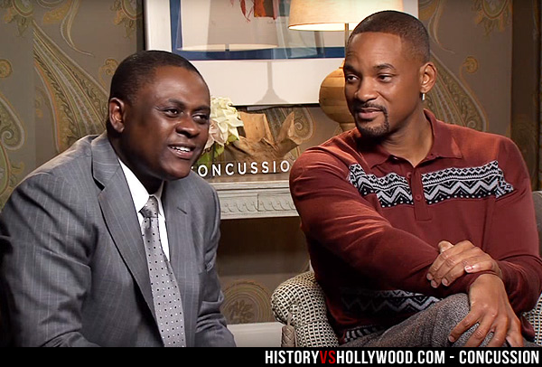 Bennet Omalu and Will Smith