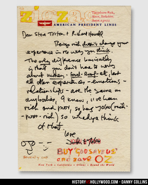 john lennon letter to steve tilston the real life danny collins