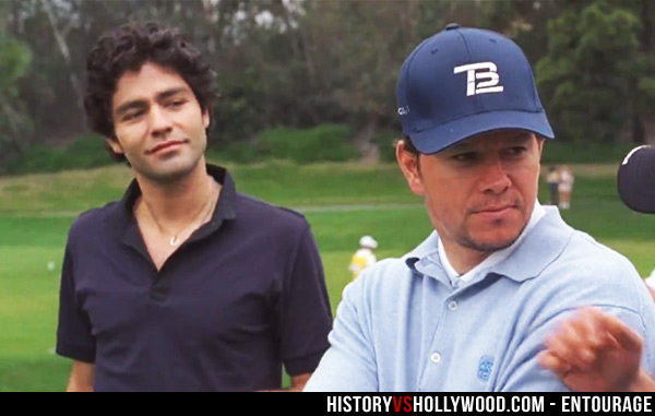 Vincent Chase and Mark Wahlberg
