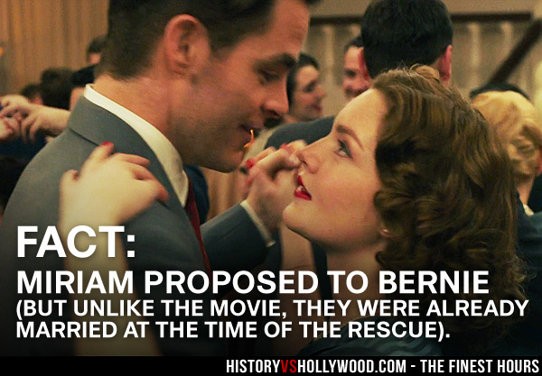 Chris Pine and Holliday Grainger as Bernie and Miriam
