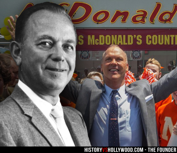 Ray Kroc and Michael Keaton