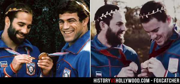 Dave Schultz and Mark Schultz, Mark Ruffalo and Channing Tatum