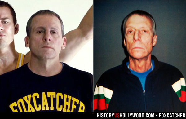 Steve Carell and real John du Pont
