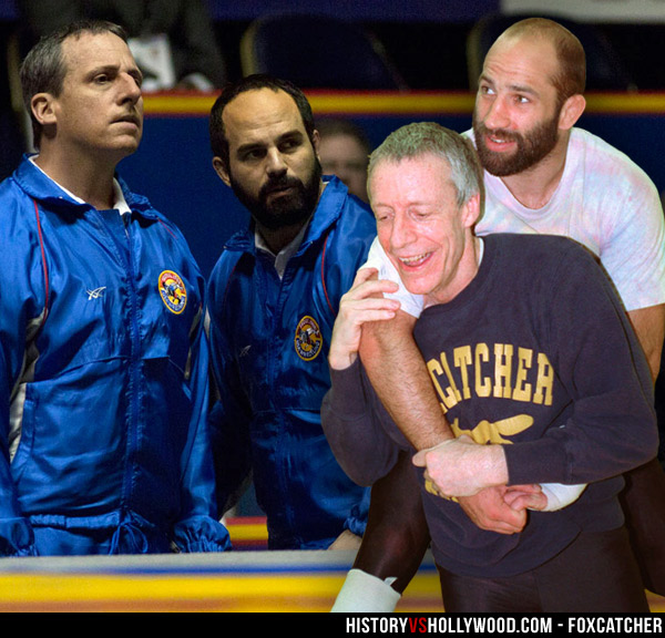 Steve Carell and Mark Ruffalo, John du Pont and Dave Schultz
