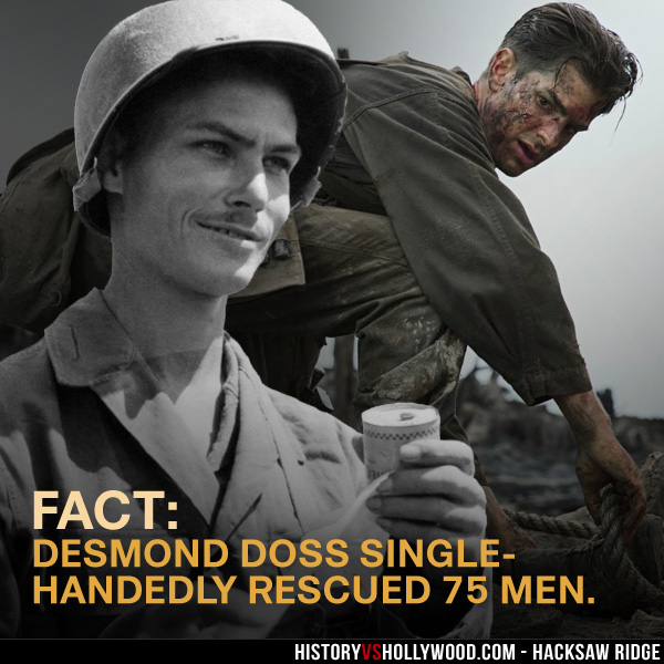 Hacksaw Ridge vs the True Story of Desmond Doss, Medal of Honor