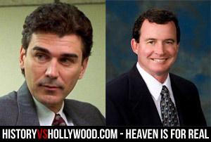O ator Rob Moran e o verdadeiro Dr. Timothy O'Holleran