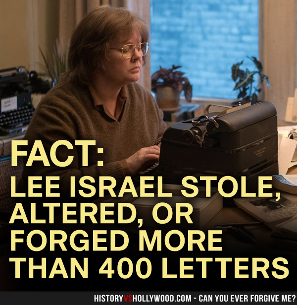 Can You Ever Forgive Me? vs the True Story of Lee Israel's