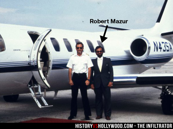 Robert Mazur with his Private Plane