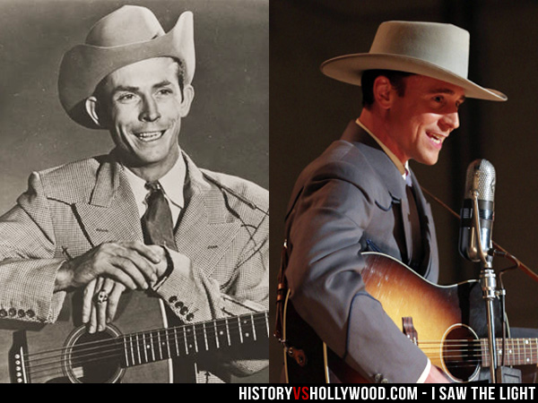 Real Hank Williams and Tom Hiddleston