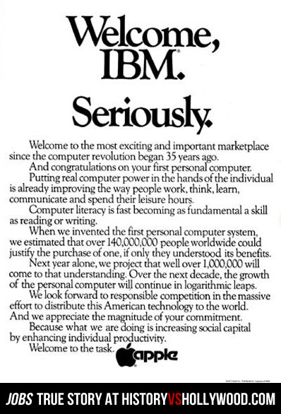Apple Welcome IBM Seriously Ad