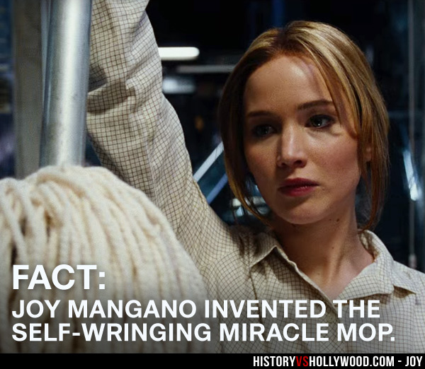 Jennifer Lawrence as Joy Mangano with Miracle Mop