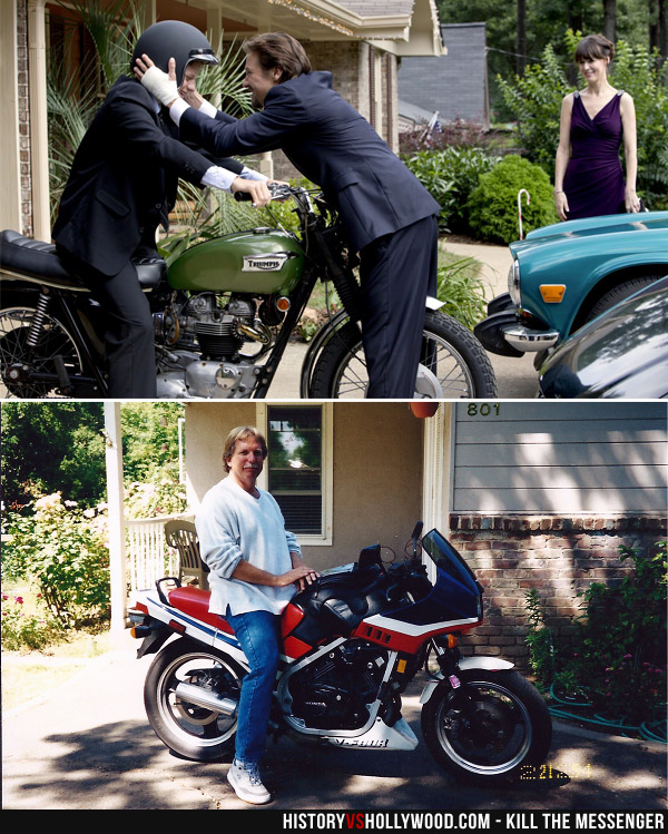 Jeremy Renner and Gary Webb with Motorcycles