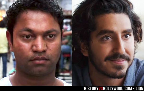 Saroo Brierley and Dev Patel