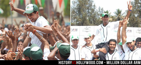 Rinku Singh wins The Million Dollar Arm contest