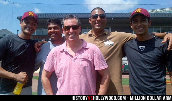 Million Dollar Arm real players with actors