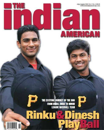 Rinku Singh and Dinesh Patel magazine cover