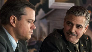 Monuments Men Matt Damon and George Clooney