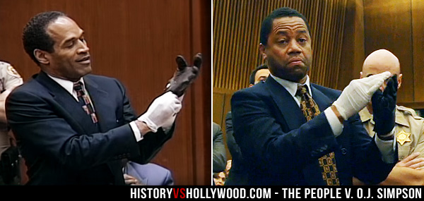 O.J. Simpson Trying on Gloves