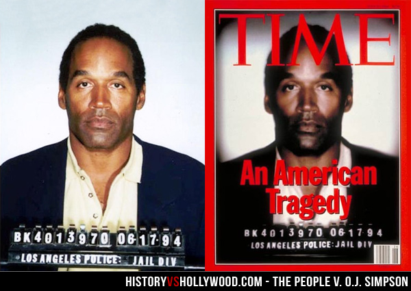 O.J. Simpson Mugshot vs. TIME Magazine Cover
