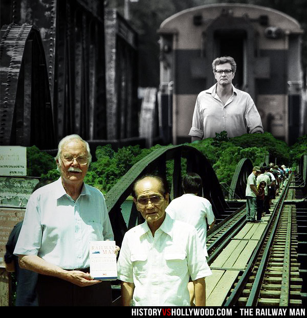Eric Lomax and Takashi Nagase on Bridge on River Kwai