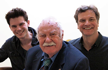 Jeremy Irvine, Eric Lomax and Colin Firth