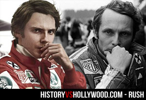 Daniel Brühl and real Niki Lauda