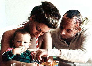 Niki Lauda with Marlene and Son
