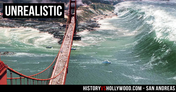 san andreas movie tsunami golden gate bridge
