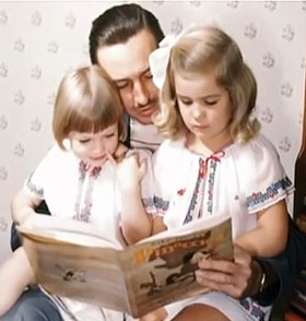 Walt and daughters