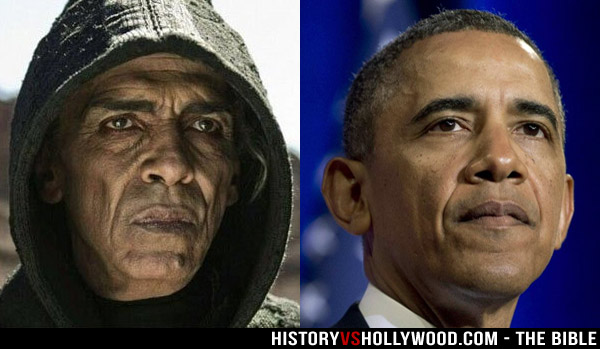 Actor Mohamen Mehdi Ouazanni as Satan and Barack Obama