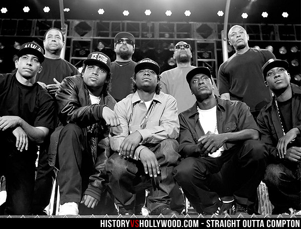 Straight Outta Compton Cast and N.W.A Members