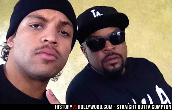 O'Shea Jackson Jr. and his father Ice Cube