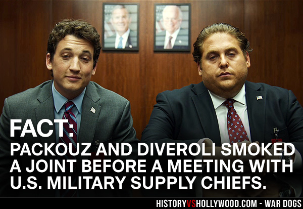 Miles Teller and Jonah Hill as Packouz and Diveroli Stoned at Government Meeting