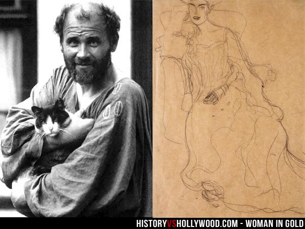 Gustav Klimt And His Adele Bloch Bauer Painting Sketch