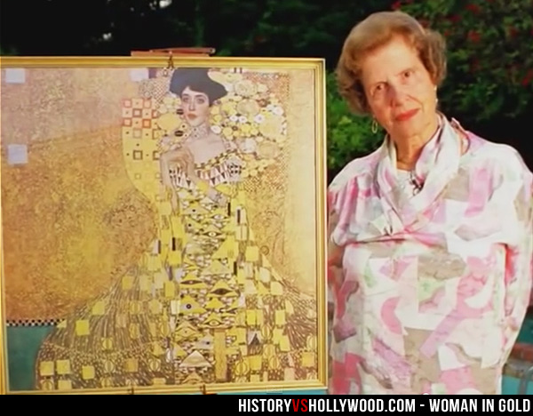Maria Altmann and painting of her Aunt Adele Bloch-Bauer